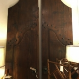 Carved walnut doors