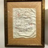 Set of framed hymnal sheets