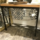 Custom iron and wood console
