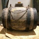 Old French wine cask