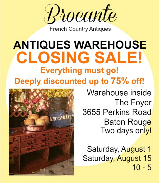Brocante warehouse closing e-blastaaa
