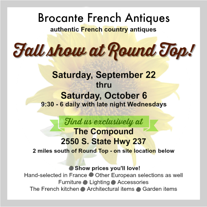 Brocante fall 2018 at Round Top
